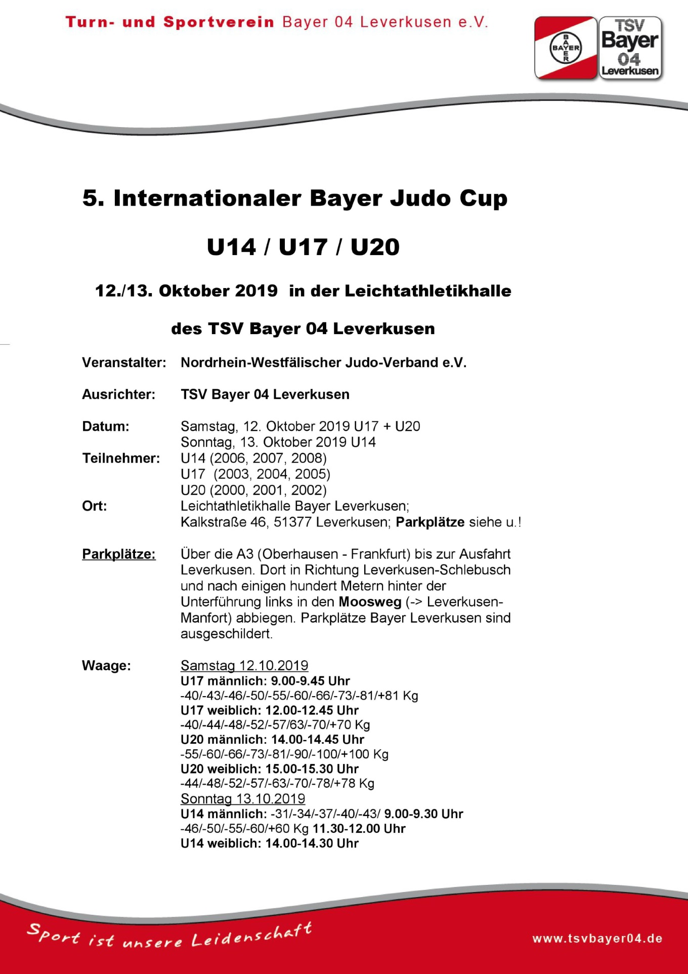 5. Internationaler Bayer Cup 2019